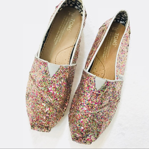 c89bc0d589 ... Color Sparkle Glitter Slide On Shoes. M 5a81afbb2ab8c59ad682dd17
